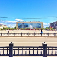 Photo taken at Площадь Ленина by Лина М. on 7/25/2013
