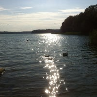 Photo taken at Großer Stechlinsee by Hie-suk Y. on 8/3/2014