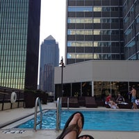 Photo taken at Rooftop Pool Deck by Justin H. on 6/9/2013
