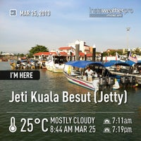 Photo taken at Jeti Kuala Besut (Jetty) by Mohammad S. on 3/25/2013