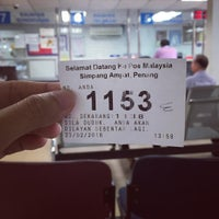 Photo taken at Pejabat Pos (Post Office) by Julia M. on 2/23/2016