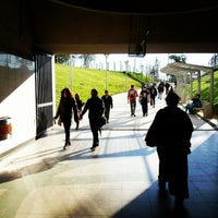 Photo taken at Metro Quilín by Gonzalo O. on 10/22/2012