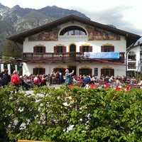 Photo taken at Hotel Alpspitz by Anna G. on 5/1/2014