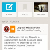 Photo taken at Chipotle Mexican Grill by Ray C. on 10/31/2012