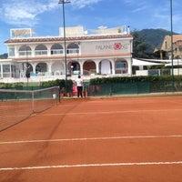 Photo taken at Tennis Club Avino by Domenico C. on 10/19/2013