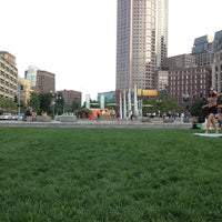 Photo taken at The Rose Kennedy Greenway by Eric A. on 7/31/2013