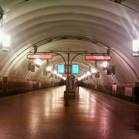 Photo taken at metro Ligovsky Prospekt by Полина М. on 2/1/2013