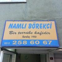 Photo taken at Namlı Börekçi by Izzet E. on 9/23/2012