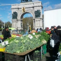 Photo taken at Grand Army Plaza Greenmarket by Tonton F. on 11/3/2012