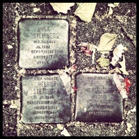 Photo taken at 3 Stolpersteine Steinberg by Andrea C. on 6/16/2013