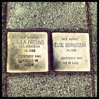 Photo taken at 2 Stolpersteine Freund & Bernstein by Andrea C. on 6/26/2013