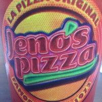 Photo taken at Jeno's Pizza by Oscar G. on 5/4/2013