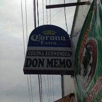 Photo taken at Cocina Economica Don Memo by José Manuel N. on 7/21/2013