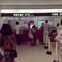 Photo taken at ピーチ航空 チェックインカウンター by moogle m. on 9/2/2014