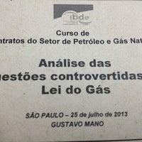 Photo taken at IBDE - Instituto Brasileiro de Estudos do Direito da Energia by Alexandre C. on 7/25/2013