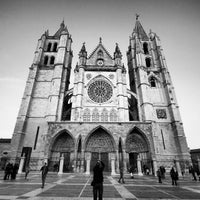 Photo taken at León Cathedral by David J. on 5/8/2013