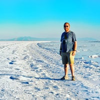 Photo taken at Robert Smithson's Spiral Jetty by Craig F. on 1/26/2016