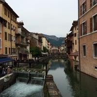 Photo taken at Canal du Thiou by Amanda I. on 5/25/2014