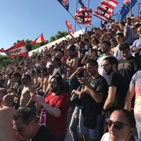 Photo taken at Stadio Tonino Benelli by Marco T. on 5/21/2017