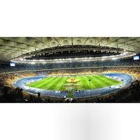 Photo taken at Olimpiyskiy Stadium by Евген К. on 9/19/2013