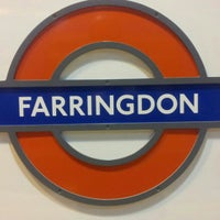 Photo taken at Farringdon London Underground Station by Kazuhisa Y. on 12/10/2012