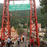 Photo taken at Lakshman Jhula | लक्ष्मण झूला by Scott C. on 7/31/2017