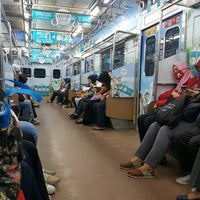 Photo taken at Stasiun Citayam by Anne A. on 1/16/2018