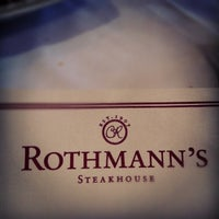Photo taken at Rothmann's Steakhouse by Jerry B. on 9/24/2012