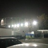 Photo taken at CJU Soccer 5 by Angel B. on 5/7/2013