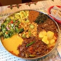 Photo taken at Queen Sheba Ethopian Restaurant by Carolyn W. on 4/7/2013