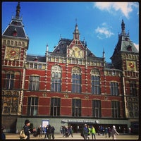 Photo taken at Amsterdam Central Railway Station by Irina N. on 4/18/2013