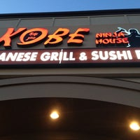 Photo taken at Kobe Ninja House Japanese Grill by Lisa L. on 10/5/2012