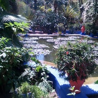 Photo taken at Jardin de Majorelle by Eva N. on 3/30/2013