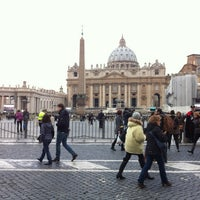 Photo taken at Piazza Pio XII by KC on 2/24/2013