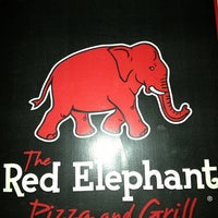 Photo taken at Red Elephant Pizza and Grille by Stacy S. on 1/4/2013