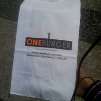 Photo taken at One Burger by Israel M. on 3/25/2013
