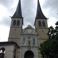 Photo taken at Hofkirche by Sebastian P. on 7/21/2014