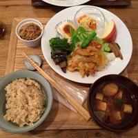 Photo taken at オーガニックマクロビcafe おひさまや by yg k. on 9/21/2015