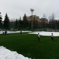 Photo taken at Футбольное поле МГУ by Rishat A. on 12/1/2012