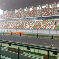 Photo taken at Buddh International Circuit by Vaibhav P. on 2/2/2013