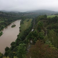 Photo taken at Zřícenina hradu Tetín by Martin K. on 9/13/2014