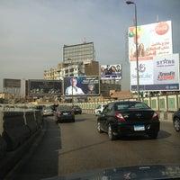 Photo taken at 6th October Bridge by Ayman E. on 2/10/2013