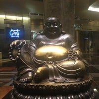 Photo taken at Big Buddah Statue at ARIA by Evgesha K. on 7/24/2013