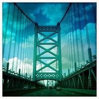 Photo taken at Benjamin Franklin Bridge by Susan B. on 7/14/2013