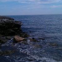 Photo taken at Playa Ferrara by Javi R. on 6/1/2015
