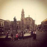 Photo taken at Plaza de Santo Domingo by Antonio V. on 4/4/2013