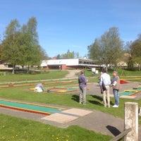 Photo taken at Borås Minigolfklubb by Ulf N. on 4/29/2014