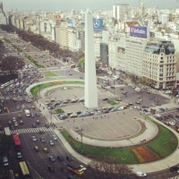 Photo taken at Obelisco - Plaza de la República by anette04 on 10/9/2012