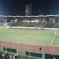 Photo taken at Estádio Willie Davids by Talyta Cristina A. on 8/25/2013