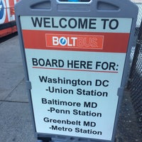 Photo taken at BoltBus Midtown Stop by Christopher N. on 12/9/2016